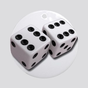 Lucky Dice Ornament (Round)